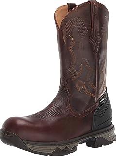 حذاء برقبة للرجال من لاكشيز بنعل مطاطي 30.48 سم، سهل الارتداد: أصابع قدم مركب نانو، مقاوم للماء