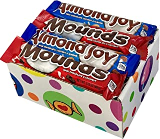 Mounds & Almond Joy Candy bar Variety (Pack of 16) By CandyLab