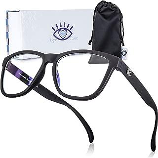 Blue Light Blocking Glasses for Women and Men, Eye Glasses for Computer and Gaming (Black)
