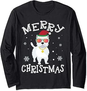 Cute WESTIE Faces Ugly Sweater Dog Santa Costume Xmas Tshirt