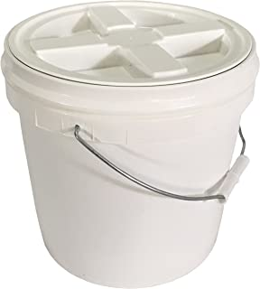 2 Gallon Food Grade Bucket with Gamma Seal Lid Bundle - Lid Has Been Installed to the Bucket