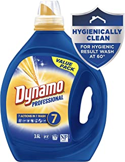 Dynamo Professional with 7 Actions in 1 Wash, Liquid Laundry Detergent, 3.6 Litres, 72 Washloads