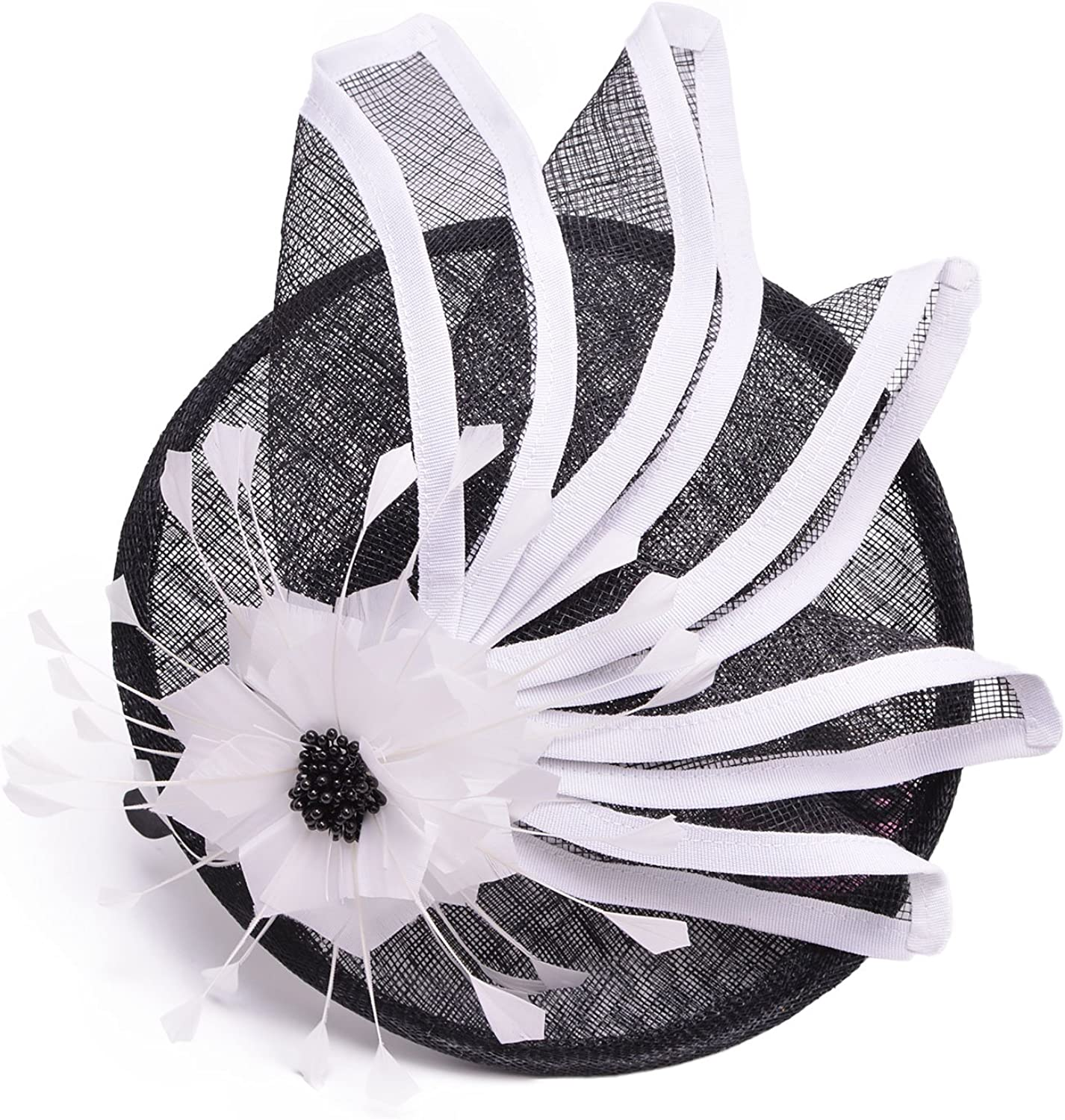 Lawliet Womens Black Max 57% OFF Award-winning store Mix White Party Cocktail Fascinator Sinamay