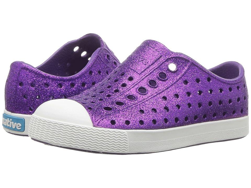 Native Kids Shoes Jefferson Bling Glitter (Toddler/Little Kid) (Starfish Bling/Shell White) Girls Shoes