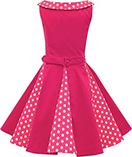 BlackButterfly Kids 'Alexia' Vintage Polka Dot 50's Girls Dress