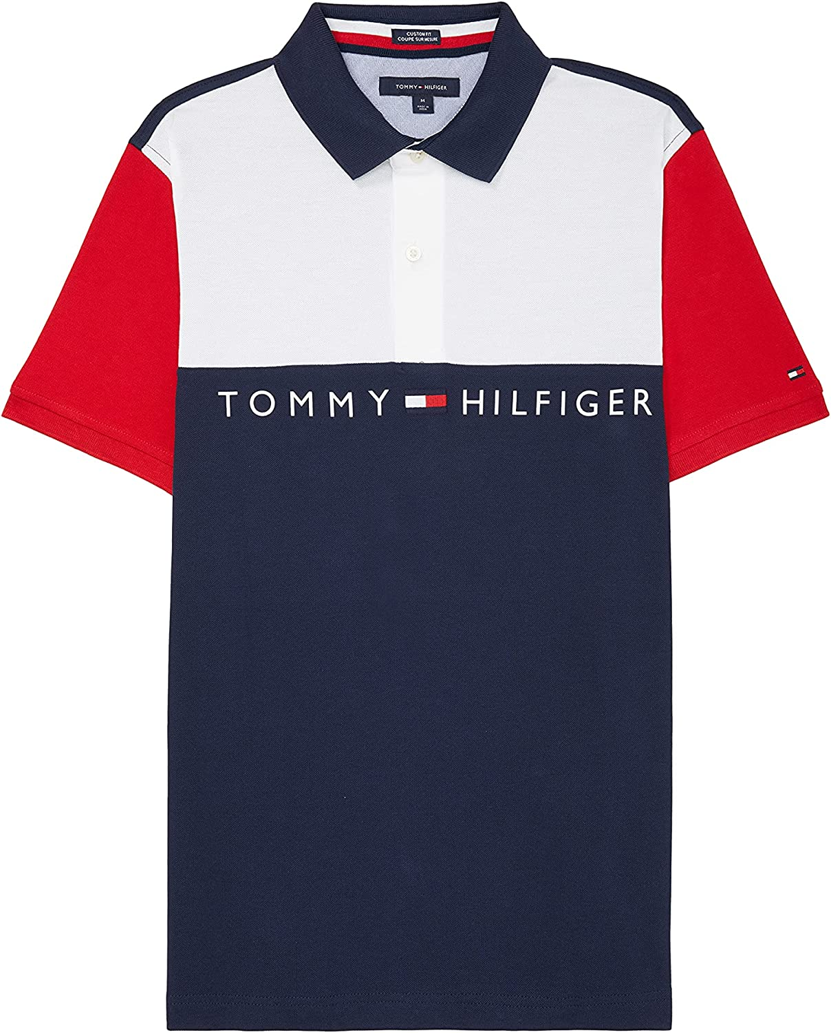 Tommy Hilfiger Adaptive Tommy Hilfiger Men's Adaptive Polo Shirt with Magnetic Buttons Custom Fit