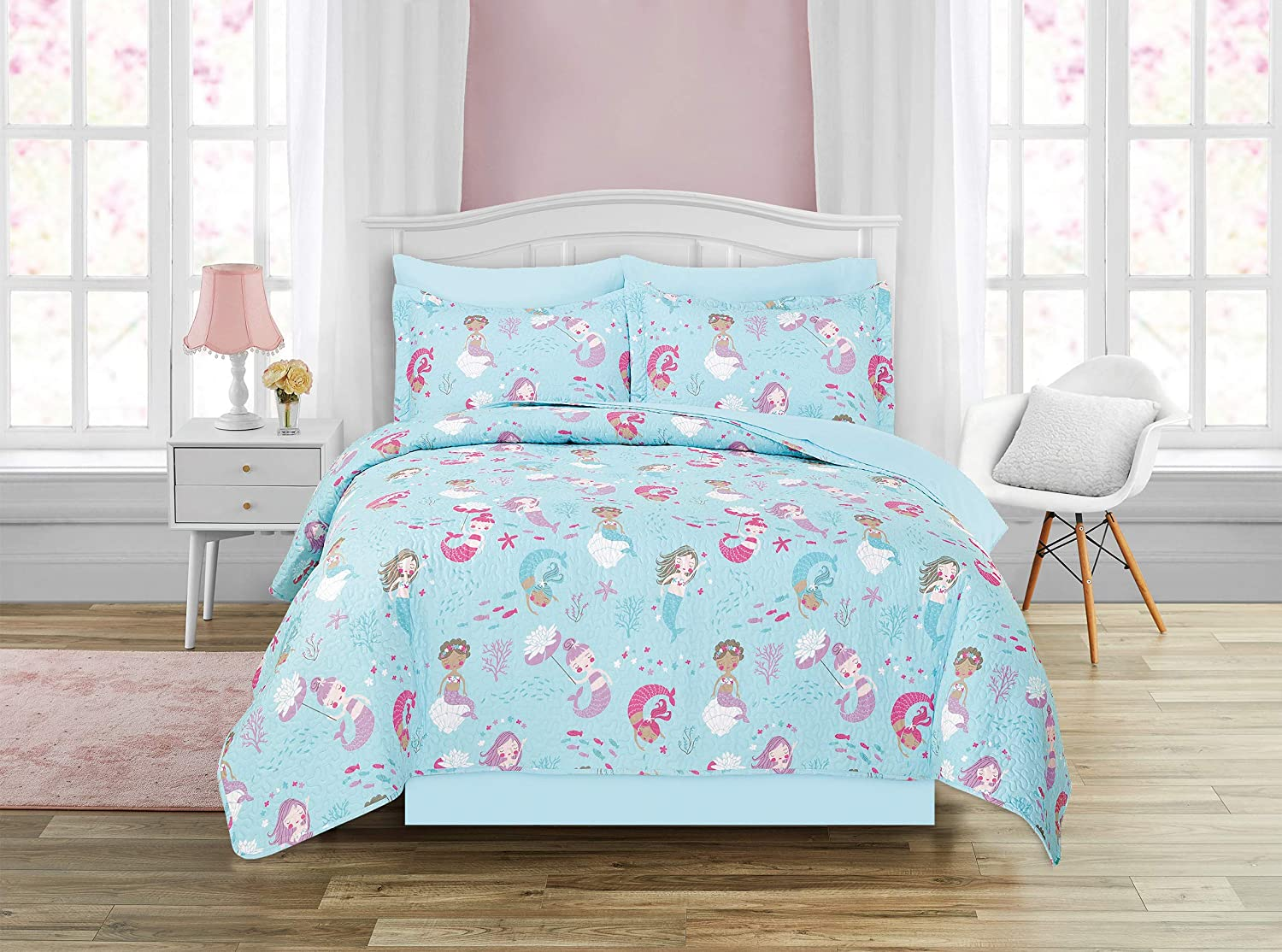 Kids Zone Home Linen 7pc Full Teens Reservation Girls Bedspread Super beauty product restock quality top Quilt Size M