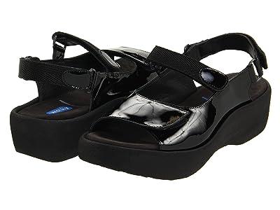 Wolky Jewel (Black Patent Leather) Women