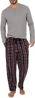 Men's Microfleece Pant and Jersey Knit Long Sleeve Henley Top Set