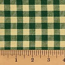 Primitive Green 5 Mini Buffalo Cotton Homespun Plaid Fabric by JCS - Sold by The Yard