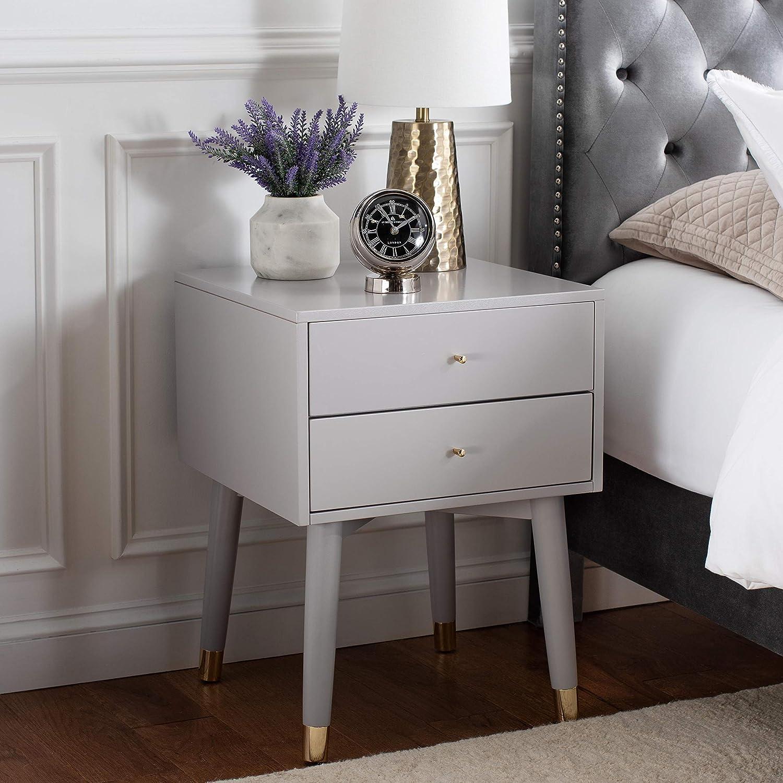 Safavieh Home 2020モデル Lyla 卸売り Mid-Century Retro and Nigh Grey Gold 2-drawer
