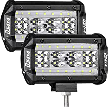 LED Pods, DJI 4X4 2Pcs 5'' 168W QUAD Row LED Light Bar OSRAM Spot Flood Combo Beam Off road LED Cubes Work Light Driving Fog Lamps for Trucks Jeep ATV UTV SUV Boat Marine, 2 Years Warranty