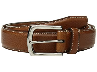 Johnston & Murphy Topstitch Belt (Tan) Men