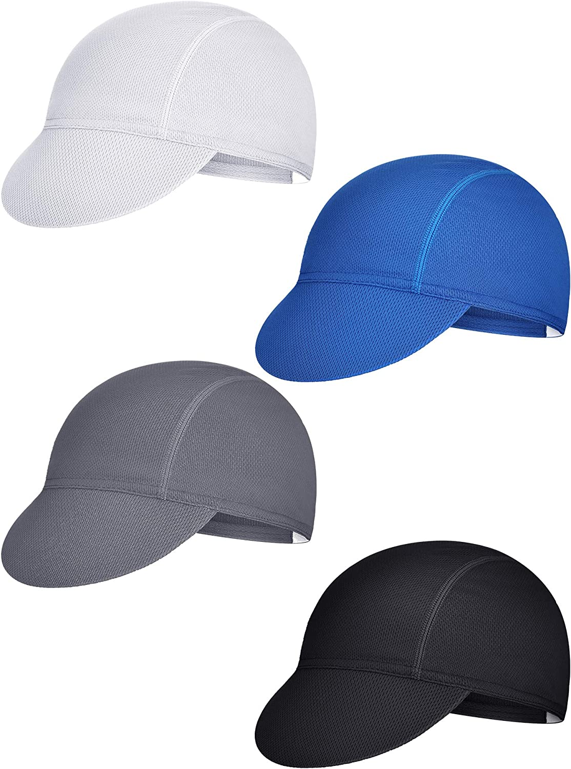 4 Pieces Summer Unisex Cycling Cap Breathable Bicycle Rare Under blast sales Caps Sweat