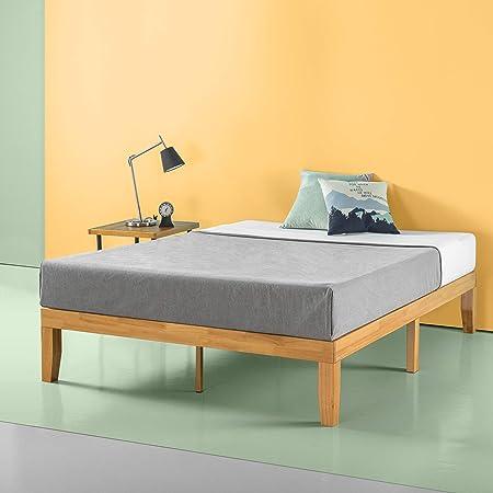 Zinus Frame 14 Inch Platform Bed/No Boxspring Needed/Wood Slat Support/Natural Finish, King
