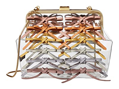 ZAC Zac Posen Lacey Frame Clutch Rainbow (Clear) Handbags
