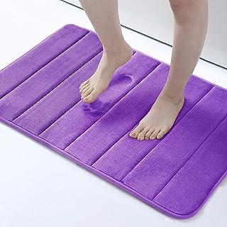 Buganda Memory Foam Soft Bath Mats - Non Slip Absorbent Bathroom Rugs Rubber Back Runner Mat for Kitchen Bathroom Floors 2...