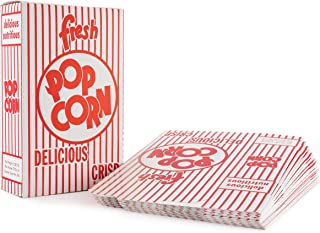 Snappy Popcorn 3-E Red and White Close Top Popcorn Boxes, 1.25 Oz, 100 Count