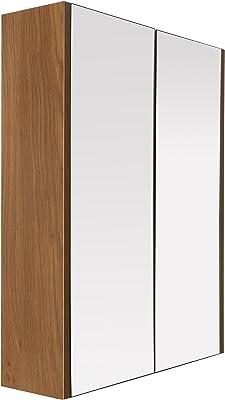 Premier Housewares 2403292 Armoire Murale avec 2 Portes Effet Chêne/Miroir