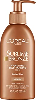 Sunless tanning lotion by L'Oreal Paris, Sublime Bronze Hydrating Sunless-Tanning Milk Medium 5 5 fl oz