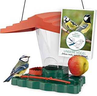 WILDLIFE FRIEND I fågelhus Piepmatz – matoas för fåglar med lärande målarbok [E-Book], fågelhus med fodersilo, talgdumplin...