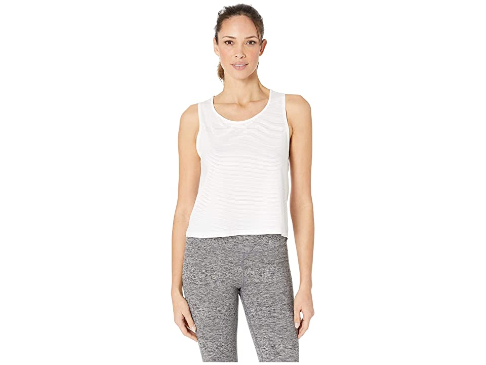 manduka Breeze Crop Top (White) Women