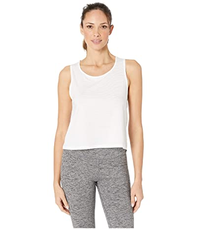 manduka Breeze Crop Top (White) Women