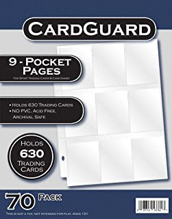 CardGuard Starter Series 9-Pocket Pages, 70 Count Pack