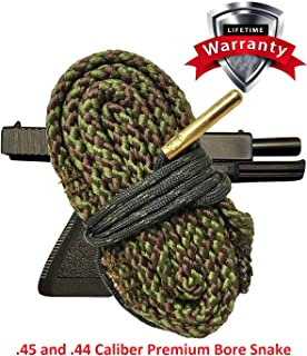 Pistol Cleaning Snake for .45 Caliber Pistols - Cleans Your Barrel Quick and Easy - Glock Ruger Smith and Wesson Kimber Beretta Heckler & Koch Remington SIG Sauer Springfield Armory Taurus