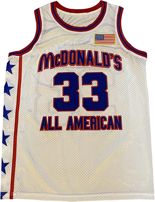 Mens McDonalds All American 33 Bryant Blue White Basketball Jersey