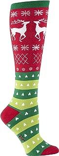 Knee High Funky Socks: Seasons Greetings - Christmas Holiday