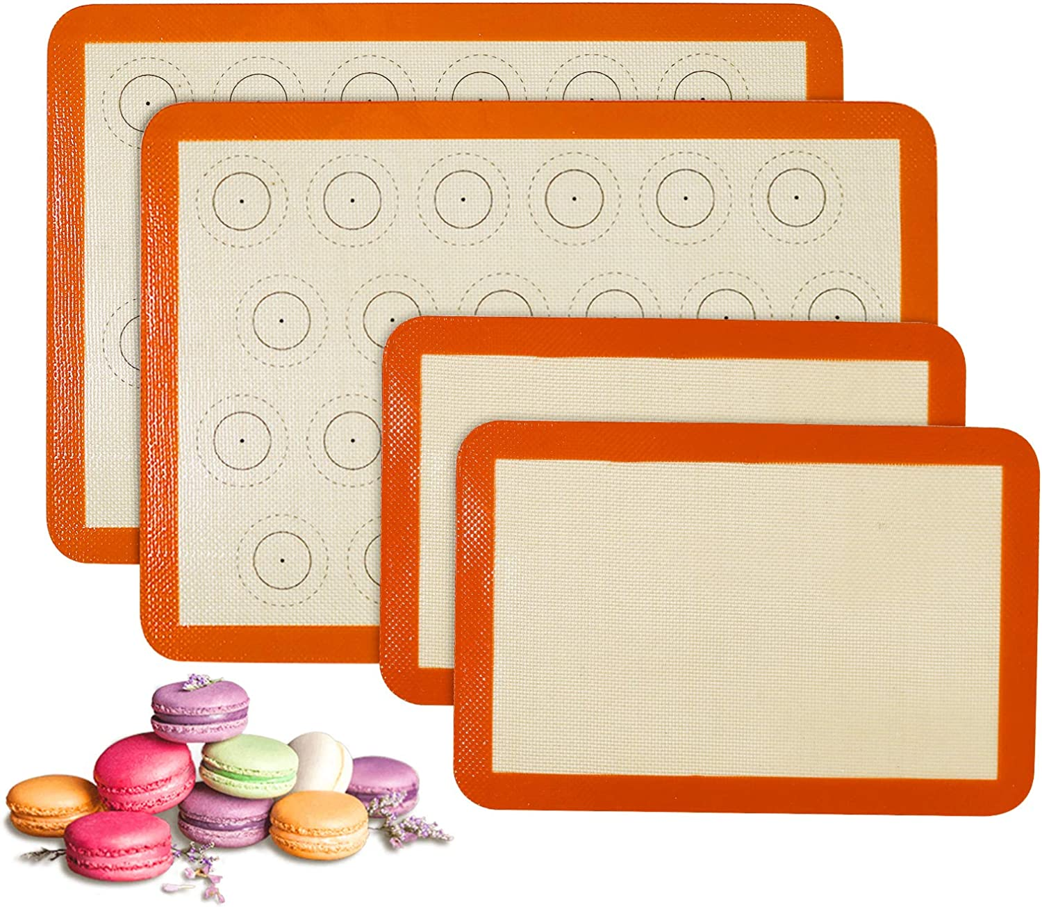 Silicone Baking Mat Set of 4 Lowest price challenge 2 Sti Popular overseas and Non Quarter Sheet Half