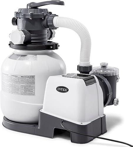 popular Intex 26645EG discount Krystal Clear Sand Filter Pump for Above Ground Pools, sale 12-inch outlet sale