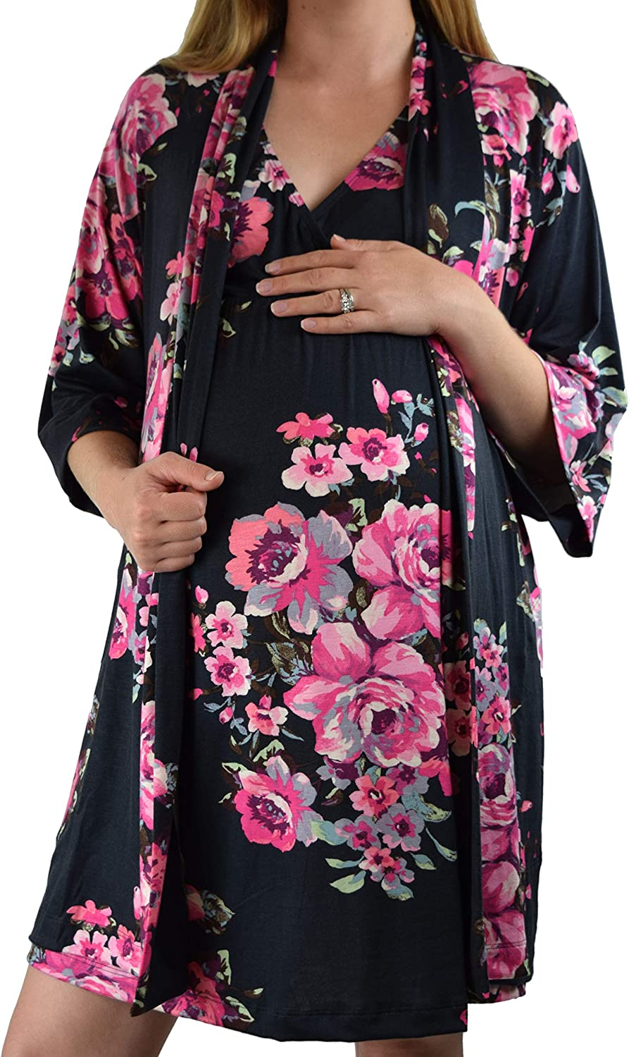 Embrace Your Bump 2 in 1 Maternity Super Nursing Nightgow Soft security year warranty