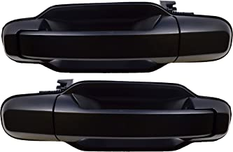 PT Auto Warehouse KI-3550P-RP - Outside Exterior Outer Door Handle, Primed Black - Rear Left/Right Pair