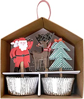 Meri Meri 45-2338 Christmas Cupcake Kit, Multicolor