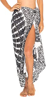 SHU-SHI Womens Sarong Beach Swimsuit Cover Up Mandala Peacock Bikini Wrap & Clip