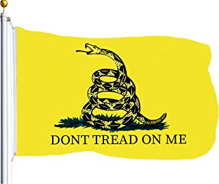 G128 - Gadsden Flag Don't Tread On Me Flag Tea Party Rattle Snake Banner 3x5ft Quality Polyester Brass Grommets Double Stitched