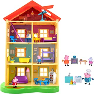 Peppa Pig Lights N' Sounds Family Home, with Two Bonus Little Rooms - Includes 5 Character Toy Figures Plus Toy Home Furni...