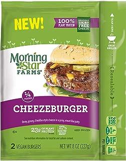 MorningStar Farms, Vegan Burgers, Cheezeburger, 8oz Bag