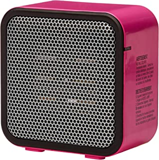 AmazonBasics 500-Watt Ceramic Small Space Personal Mini Heater – Pink
