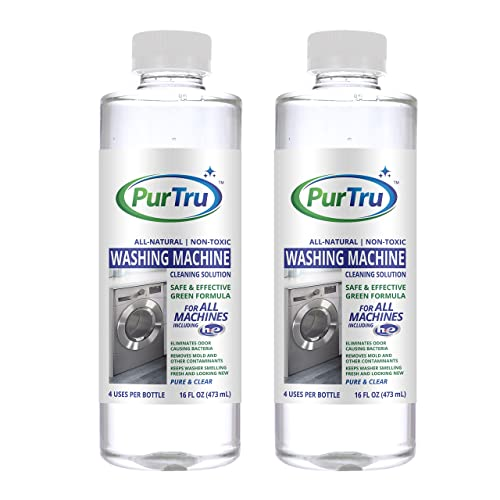 Washing Machine Cleaner (2 Pack) - All Natural and Safe Descaling & Cleaning Solution