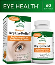 Terry Naturally Omega-7 Dry Eye Relief - 500 mg Sea Buckthorn, 60 Vegan Softgels - Eye Moisture Support Supplement, with Omegas 7, 9, 6 & 3 - Non-GMO, Gluten-Free - 60 Servings