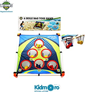Kidmoro United Sports 6 Holes Bag Toss Game, Black