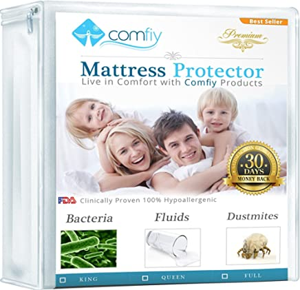 featured product Comfiy Mattress Protector Hypoallergenic Bed Cover against Leaks,  Bedbugs,  and Dust Mites King 1 YEAR WARRANTY
