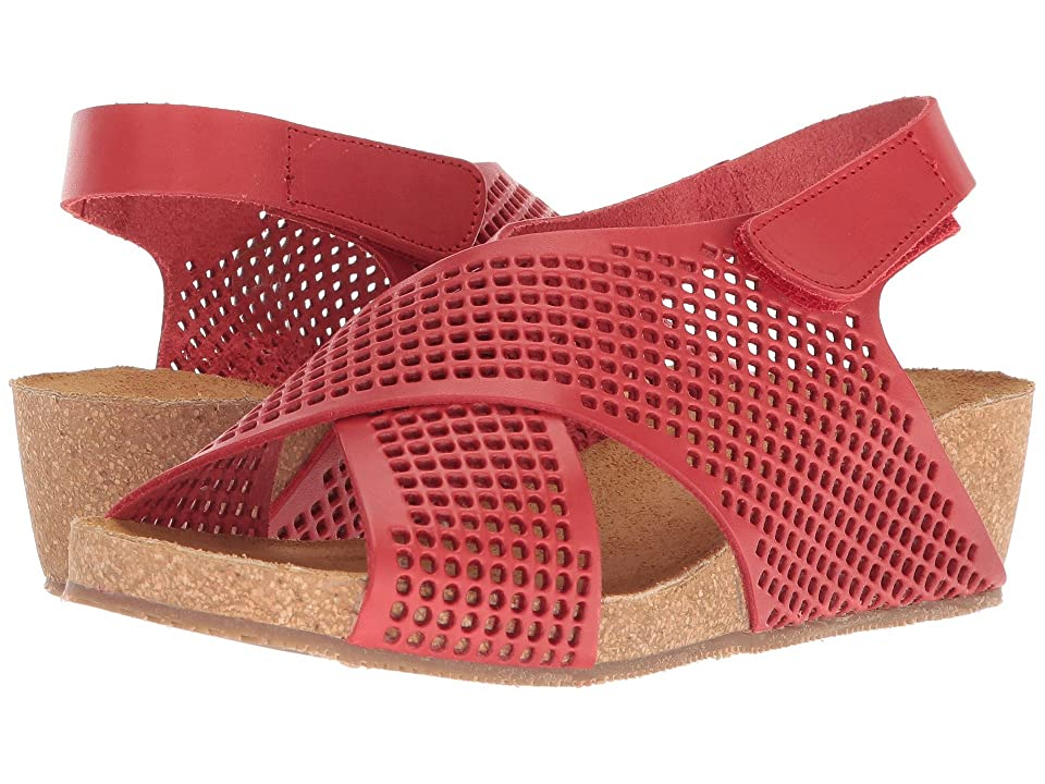 Eric Michael August Wedge Sandal (Red) Women