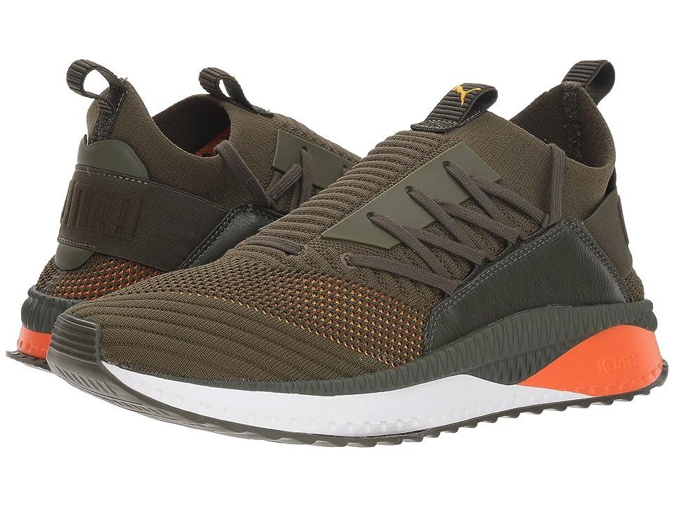 PUMA Tsugi Jun Colorshift (Forest Night/Firecracker/Spectra Yellow) Men's Shoes, Brown