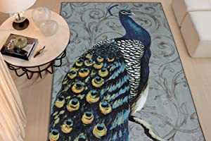 Mohawk Home Peacock Feathers Area Rug, 7' 6