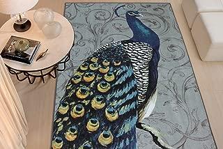 bird print area rugs