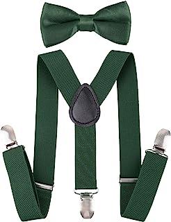 تعلیق Livingston Kid's Suspender Bowtie تعلیق قابل تنظیم را با Bow Ties تنظیم می کند